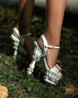 Dolce&Gabbana Resin Rose Sandals